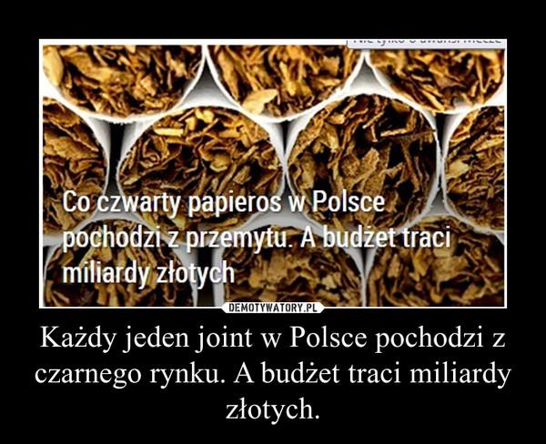 Każdy jeden joint w Polsce pochodzi z czarnego rynku. A budżet traci miliardy złotych. –