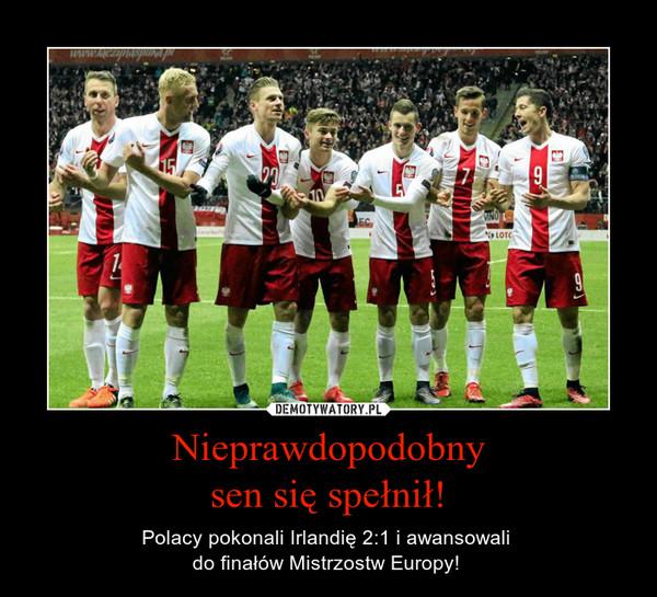 Nieprawdopodobnysen się spełnił! – Polacy pokonali Irlandię 2:1 i awansowali do finałów Mistrzostw Europy!