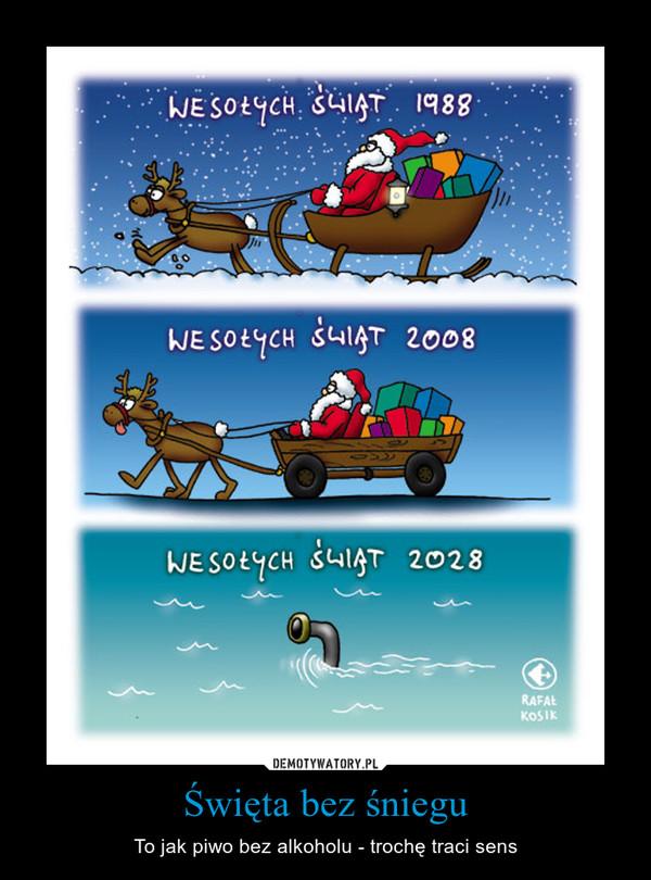 Święta bez śniegu – To jak piwo bez alkoholu - trochę traci sens