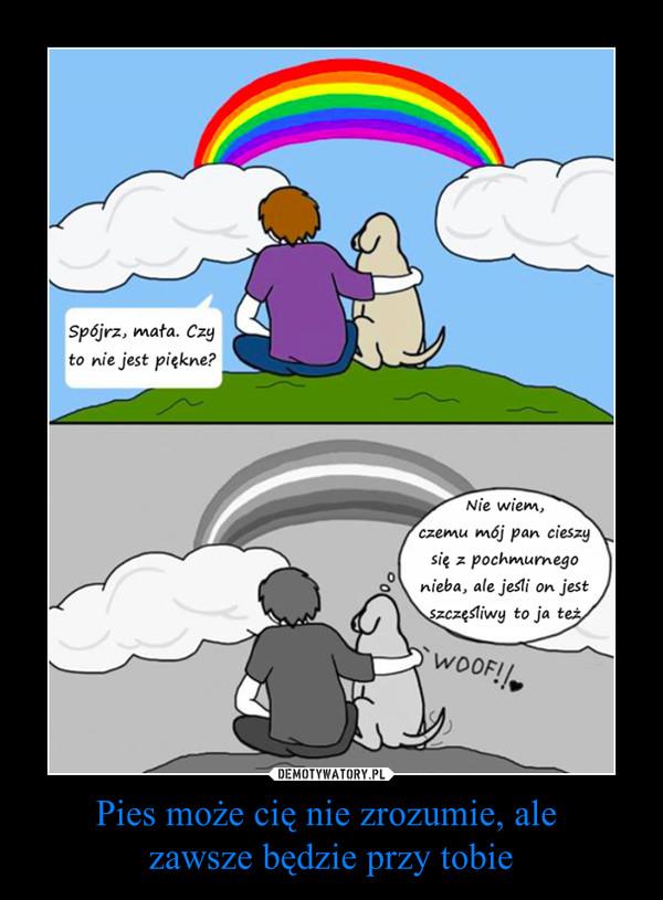 Pies może cię nie zrozumie, ale zawsze będzie przy tobie –