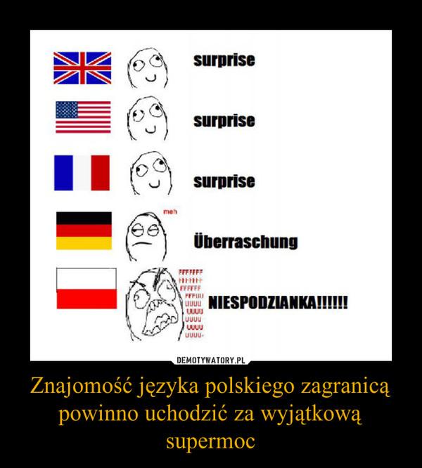 Znajomość języka polskiego zagranicą powinno uchodzić za wyjątkową supermoc –