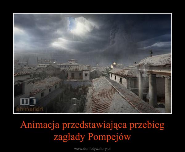 Animacja przedstawiająca przebieg zagłady Pompejów –