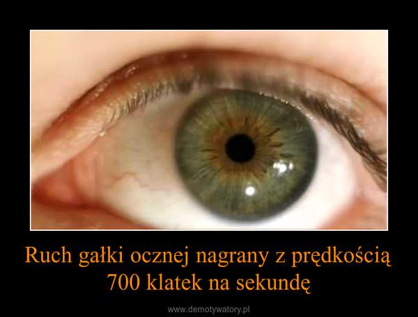 Ruch gałki ocznej nagrany z prędkością 700 klatek na sekundę –