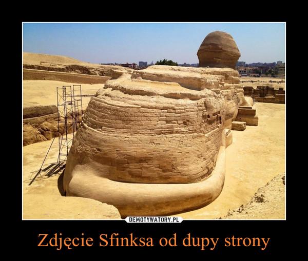 Zdjęcie Sfinksa od dupy strony –