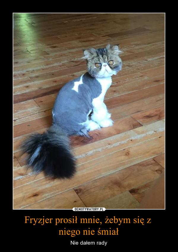 Fryzjer prosił mnie, żebym się z niego nie śmiał – Nie dałem rady