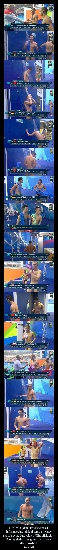 NBC wie gdzie umieścić pasek informacyjny- dzięki temu pływacy startujący na Igrzyskach Olimpijskich w Rio wyglądają jak gwiazdy filmów dla dorosłych – Brawo NBC!