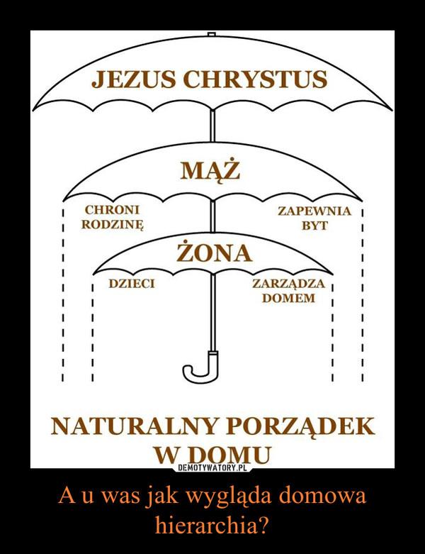 A u was jak wygląda domowa hierarchia? –
