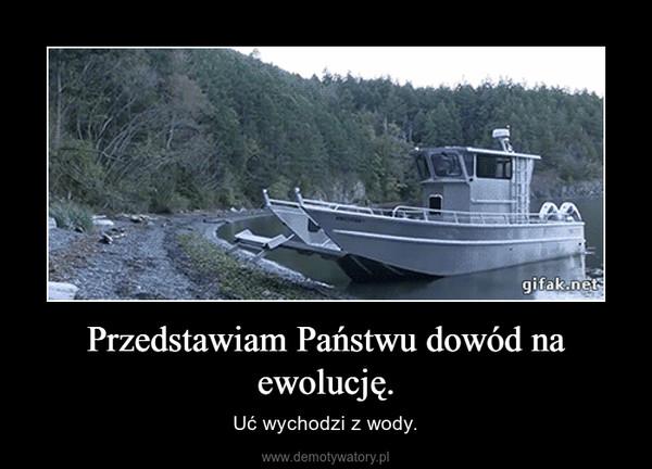 Przedstawiam Państwu dowód na ewolucję. – Uć wychodzi z wody.