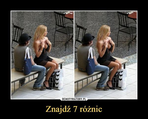 Znajdź 7 różnic –