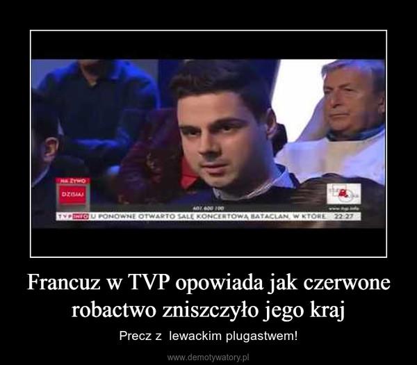 Francuz w TVP opowiada jak czerwone robactwo zniszczyło jego kraj – Precz z  lewackim plugastwem!