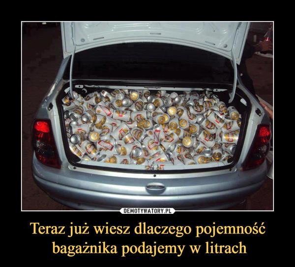 Teraz już wiesz dlaczego pojemność bagażnika podajemy w litrach –