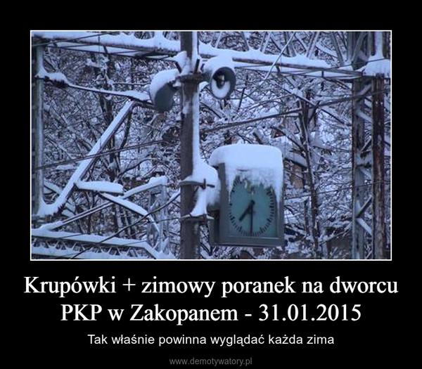 Krupówki + zimowy poranek na dworcu PKP w Zakopanem - 31.01.2015 – Tak właśnie powinna wyglądać każda zima