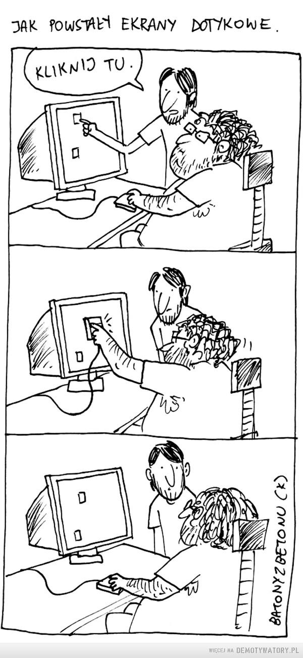 Jak powstały ekrany dotykowe –