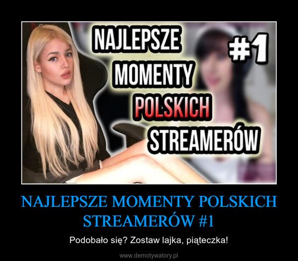 NAJLEPSZE MOMENTY POLSKICH STREAMERÓW #1 – Podobało się? Zostaw lajka, piąteczka!