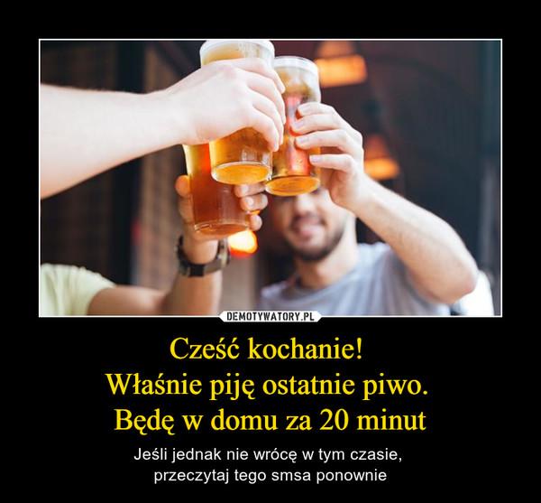 Cześć kochanie! Właśnie piję ostatnie piwo. Będę w domu za 20 minut – Jeśli jednak nie wrócę w tym czasie, przeczytaj tego smsa ponownie