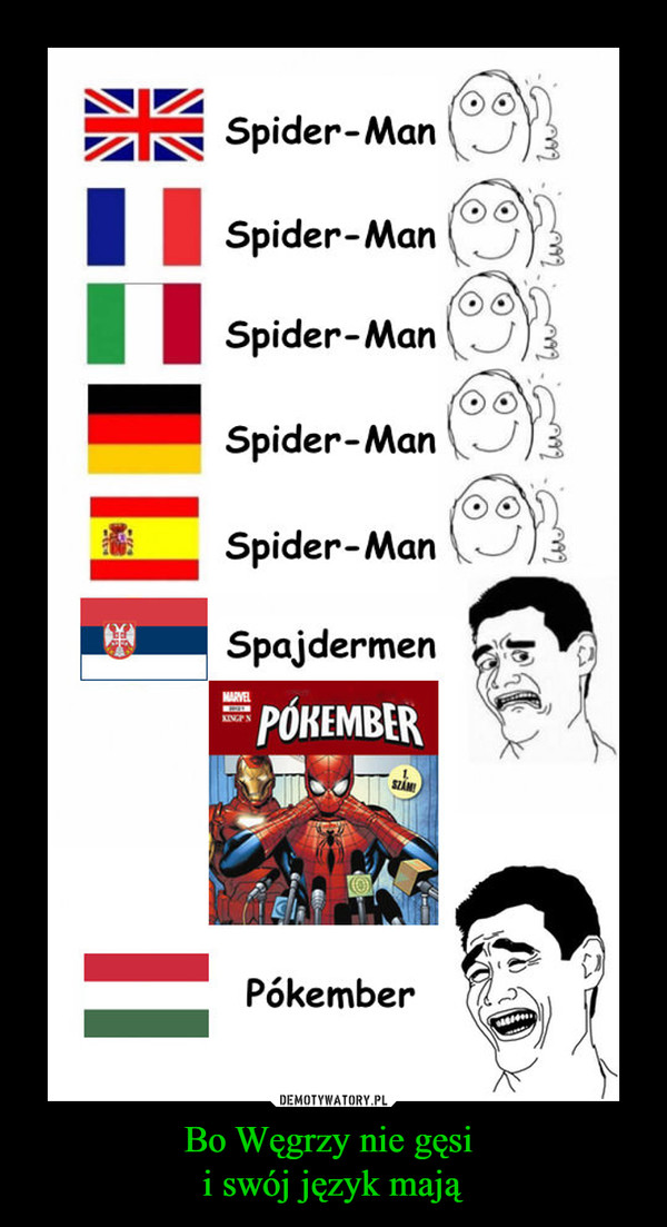 Bo Węgrzy nie gęsi i swój język mają –  Spider-ManSpider-ManSpider-ManSpider-ManSpider-ManSpajdermenPokember
