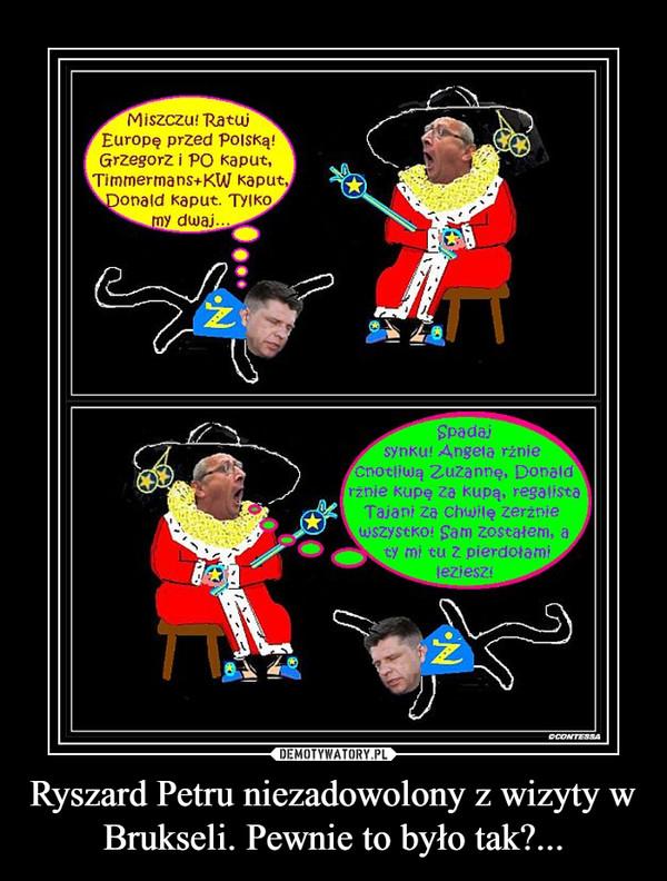 Ryszard Petru niezadowolony z wizyty w Brukseli. Pewnie to było tak?... –