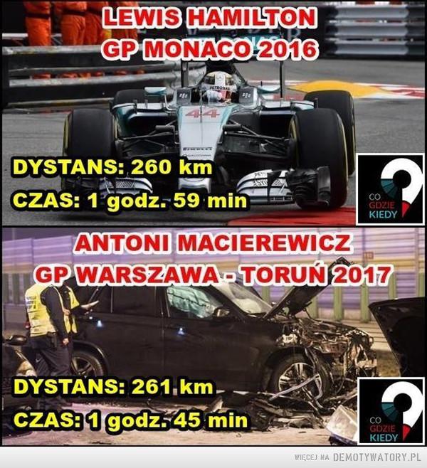 Hamilton vs Macierewicz –