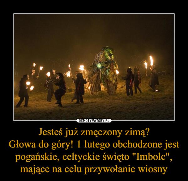 """Jesteś już zmęczony zimą?Głowa do góry! 1 lutego obchodzone jest pogańskie, celtyckie święto """"Imbolc"""", mające na celu przywołanie wiosny –"""