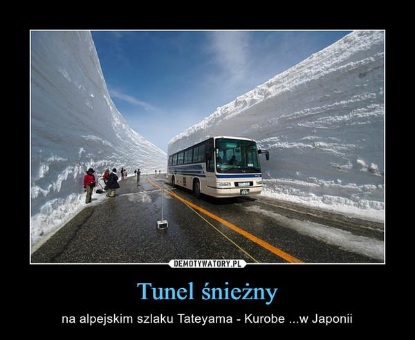 Tunel śnieżny – na alpejskim szlaku Tateyama - Kurobe ...w Japonii
