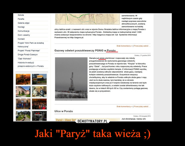 """Jaki """"Paryż"""" taka wieża ;) –"""