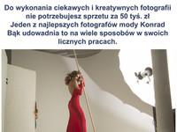 W fotografii – Nie sprzęt się liczy a umiejętności