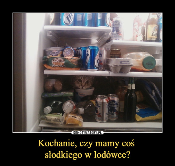 Kochanie, czy mamy coś słodkiego w lodówce? –