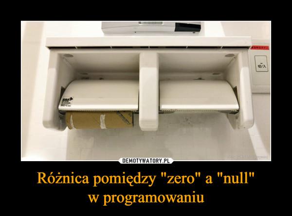 """Różnica pomiędzy """"zero"""" a """"null""""w programowaniu –"""