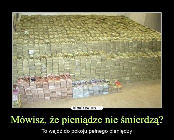 Mówisz, że pieniądze nie śmierdzą? – To wejdź do pokoju pełnego pieniędzy