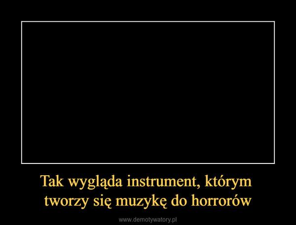 Tak wygląda instrument, którym tworzy się muzykę do horrorów –