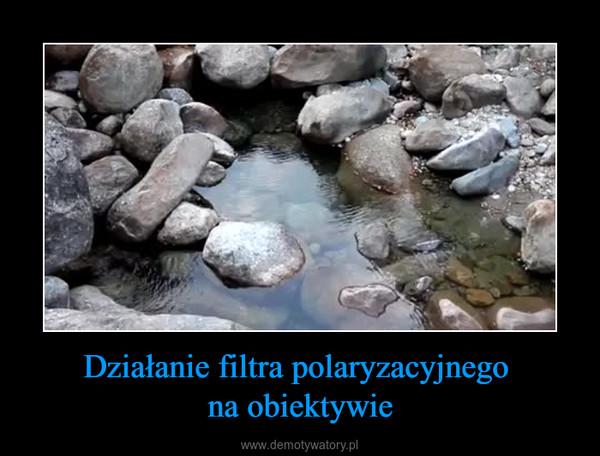 Działanie filtra polaryzacyjnego na obiektywie –