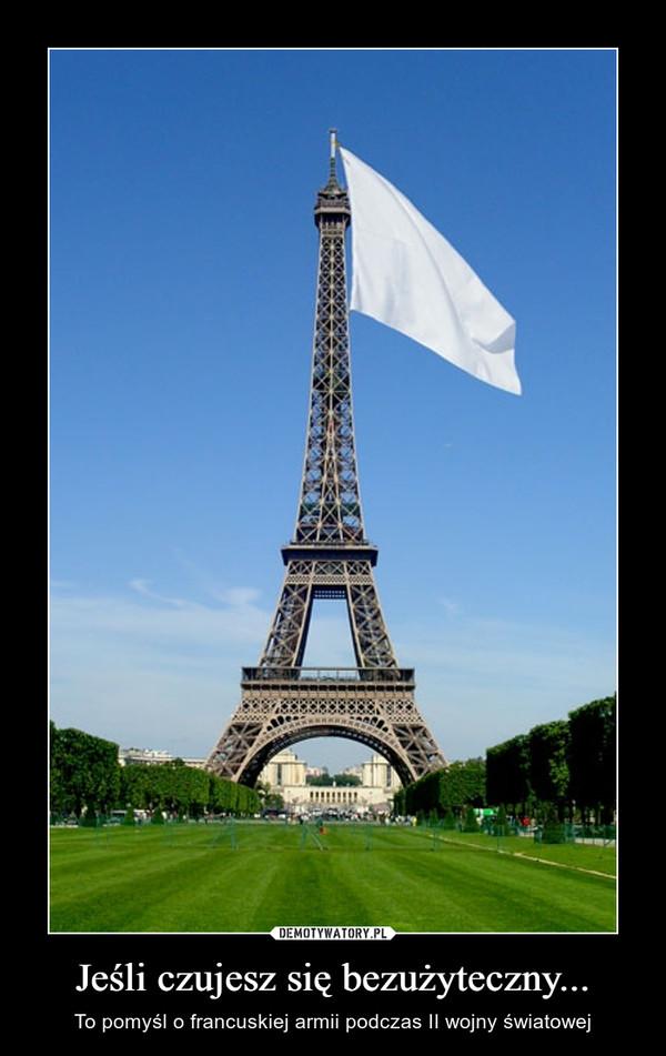 Jeśli czujesz się bezużyteczny... – To pomyśl o francuskiej armii podczas II wojny światowej