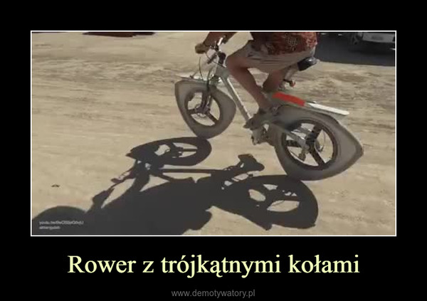 Rower z trójkątnymi kołami –