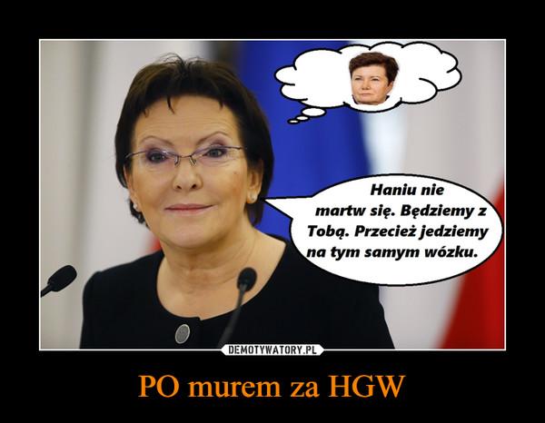 PO murem za HGW –