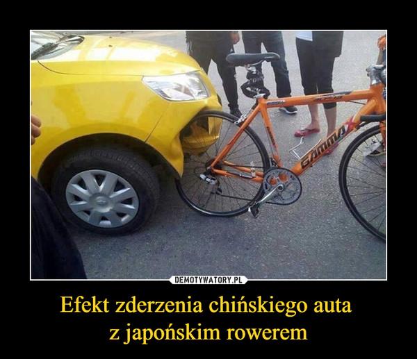 Efekt zderzenia chińskiego auta z japońskim rowerem –