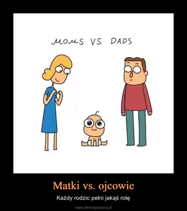 Matki vs. ojcowie – Każdy rodzic pełni jakąś rolę