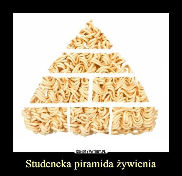 Studencka piramida żywienia –