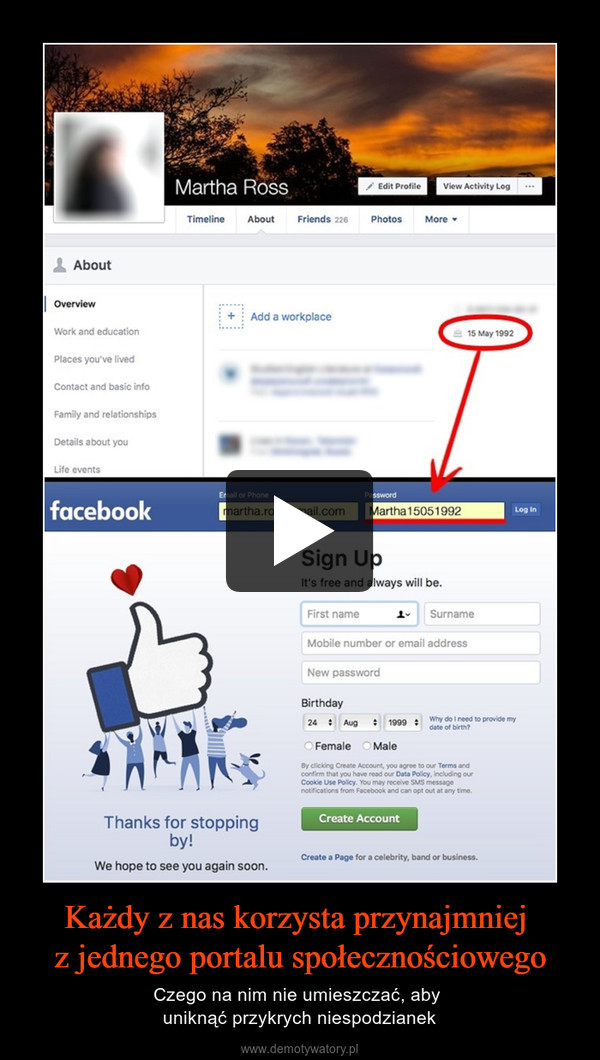 Każdy z nas korzysta przynajmniej z jednego portalu społecznościowego – Czego na nim nie umieszczać, aby uniknąć przykrych niespodzianek