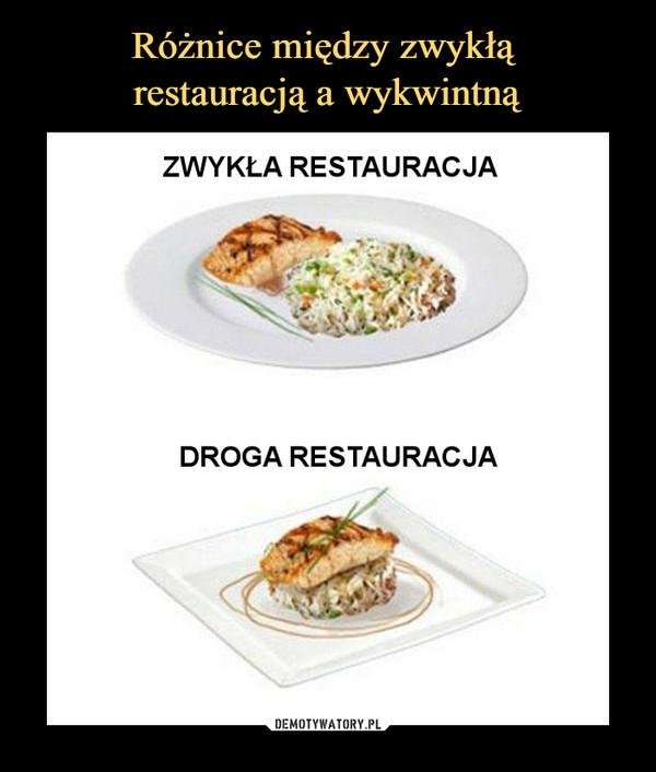 –  zwykła restauracjadroga restauracja