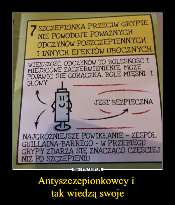 Antyszczepionkowcy i tak wiedzą swoje –