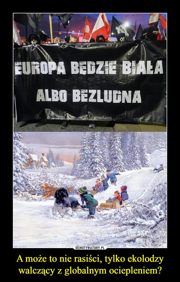 A może to nie rasiści, tylko ekolodzy walczący z globalnym ociepleniem? –  EUROPA BĘDZIE BIAŁAALBO BEZLUDNA