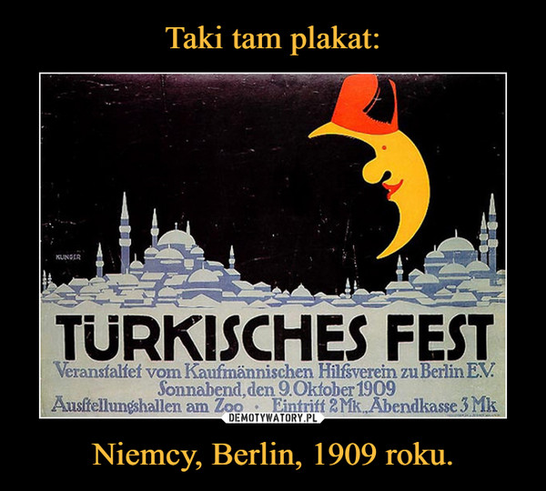 Niemcy, Berlin, 1909 roku. –