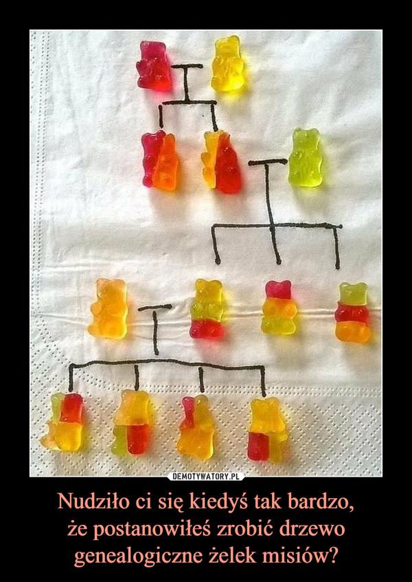 Nudziło ci się kiedyś tak bardzo,że postanowiłeś zrobić drzewo genealogiczne żelek misiów? –