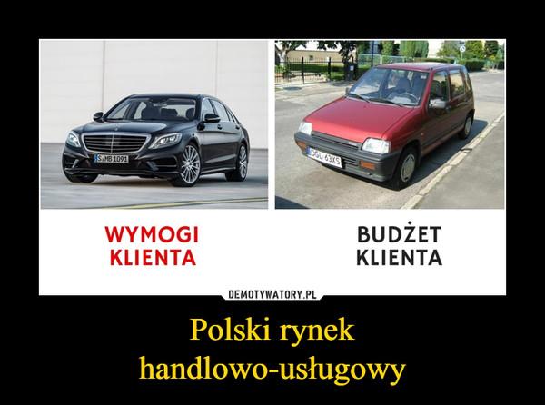 Polski rynekhandlowo-usługowy –  WYMOGI KLIENTABUDŻET KLIENTA