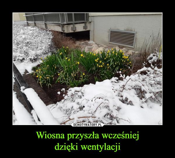 Wiosna przyszła wcześniejdzięki wentylacji –