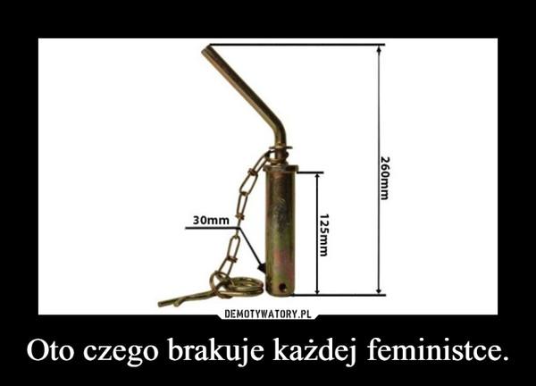 Oto czego brakuje każdej feministce. –