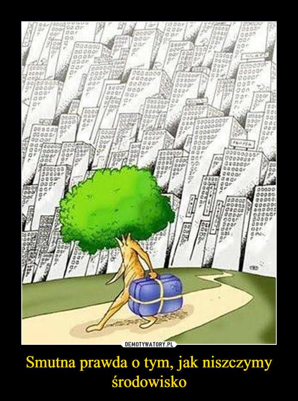 Smutna prawda o tym, jak niszczymy środowisko –
