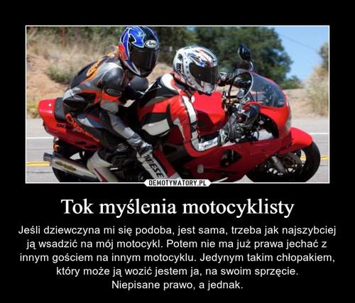 Tok myślenia motocyklisty