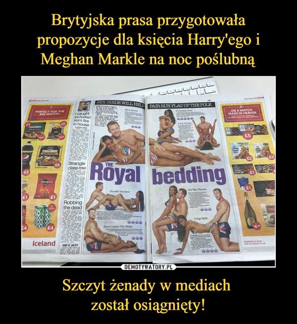 Szczyt żenady w mediach został osiągnięty! –  the royal bedding