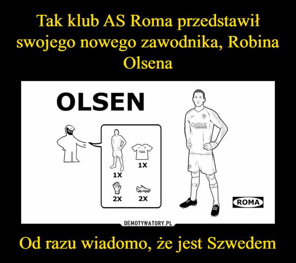 Od razu wiadomo, że jest Szwedem –